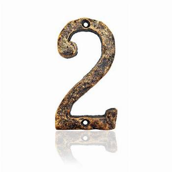 6 Inch House Numbers- Rustic Cast Iron Home Address Number-