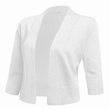 AAMILIFE Women's 3/4 Sleeve Cropped Cardigans Sweaters