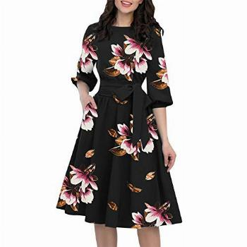 Aniywn Women's Party Dresses Knee-Length Casual A-Line Lace