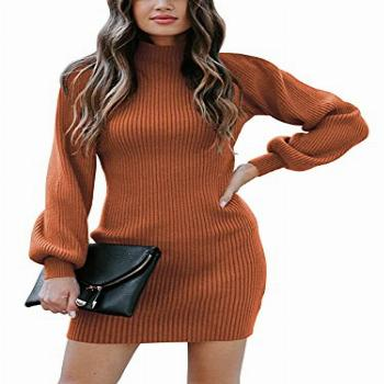 ANRABESS Women's Slim Fit Cable Knit Turtleneck Long Sleeve