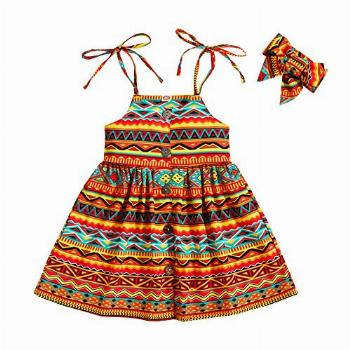 Baby Girl African Dresses Outfits Toddler Kids Sleeveless