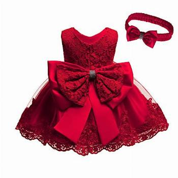 Birthday Party Dresses for Baby Girls Red Size 1 Dresses for