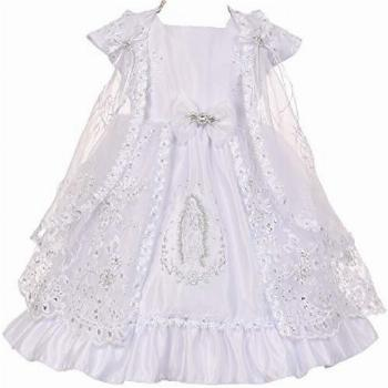 BluNight Collection Little Baby Girls Virgin Mary Embroidery