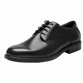 Bruno Marc Men's Downing-02 Black Leather Lined Dress Oxford