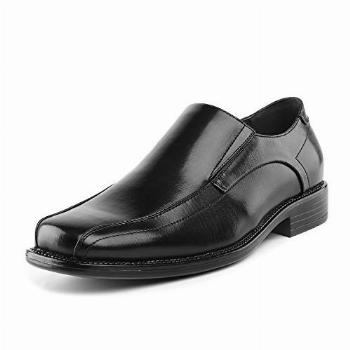 Bruno Marc Men's State-01 Black Leather Lined Dress Loafers