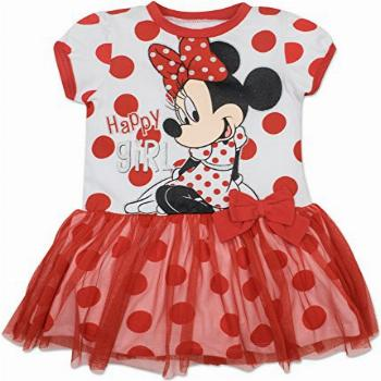 Disney Toddler Girls' Minnie Mouse Tulle Dress, White with