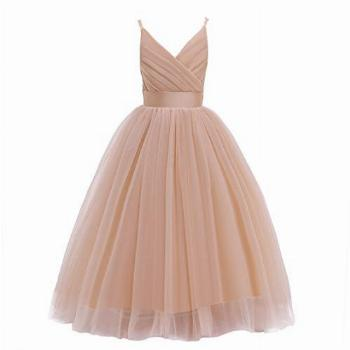 Glamulice Christmas New Year Flower Girl Dress Kids Lace