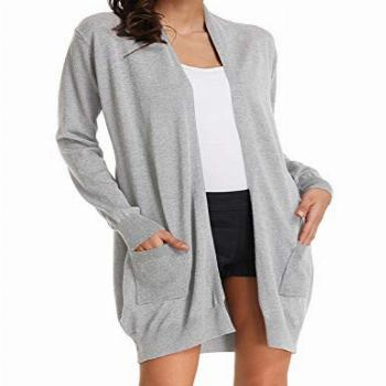 GRACE KARIN Women's Open Front Long Sleeve Solid Color Knit