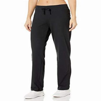 Hanes Women's French Terry Pant, Black, Large