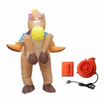 Inflatable Cowboy on Horse Jumpsuit Riding Costume for Fancy