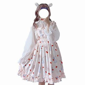 Packitcute Summer Dresses for Girls Bunny Printed A-Line