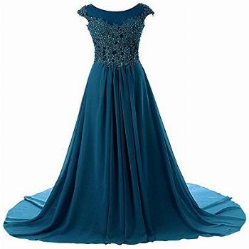 Prom Dress Long Formal Evening Gowns Lace Bridesmaid Dress
