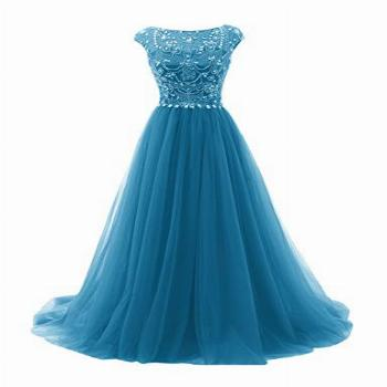 Prom Dress Long Formal Evening Gowns Tulle Party Dresses