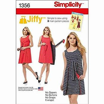 Simplicity 1356 Easy to Sew Women's Reversible Wrap Dress
