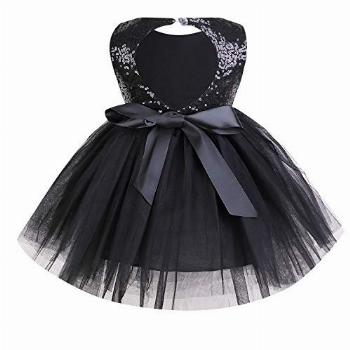 Toddler Baby Girls Dress Sleeveless Sequins Party Dresses