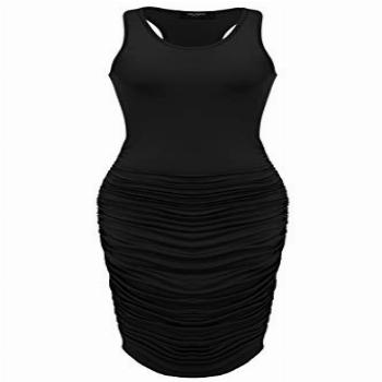 Zeagoo Women's Summer Sexy Stretch Ruched Sundress Plus Size
