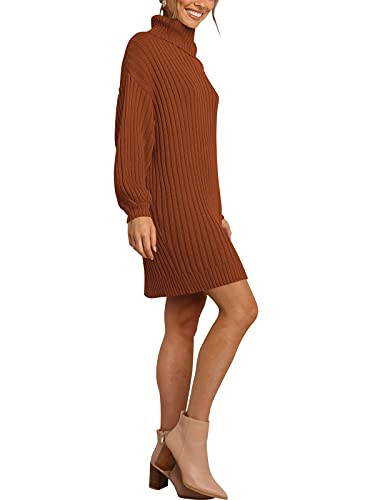 ANRABESS Womens Loose Turtleneck Knit Long Pullover Sweater