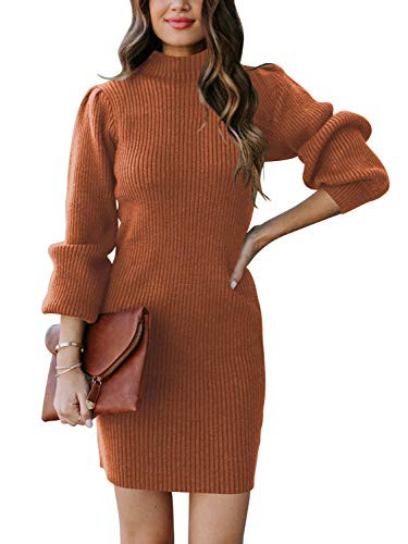 ANRABESS Womens Slim Fit Cable Knit Turtleneck Long Sleeve
