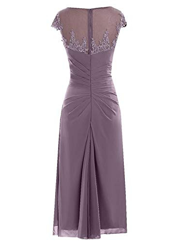 Champagne Mother of The Bride Dresses Knee Length with Cap