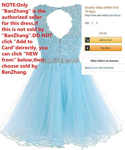 Dydsz Womens Prom Dresses Short for Junior Homecoming Party