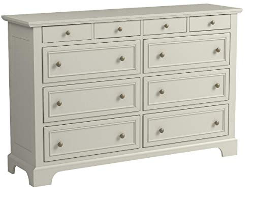 Home Styles Naples White Dresser with Six Large Drawers, Two