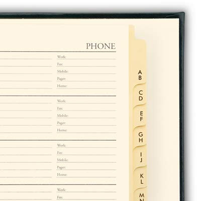 Leather Desk Address Book by Gallery Leather - Acadia Green