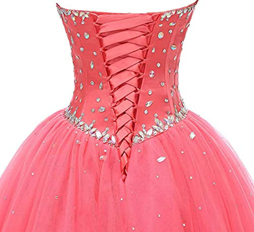 Likedpage Womens Sweetheart Ball Gown Tulle Quinceanera