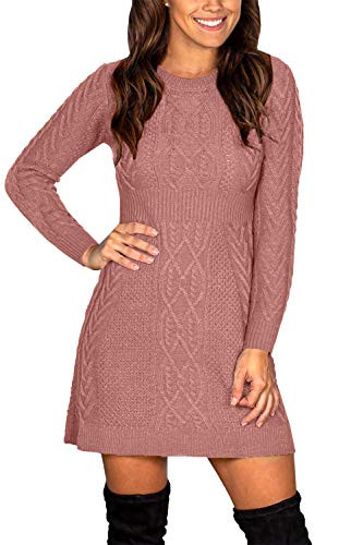 Maisolly Women Pullover Winter Dresses Casual Long Sleeve