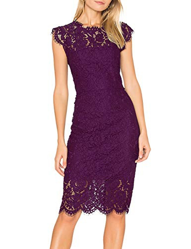 MEROKEETY Womens Sleeveless Lace Floral Elegant Cocktail