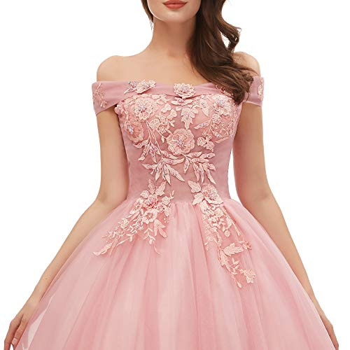 Okaybrial Womens Sweet 16 Quinceanera Dresses Blush Pink