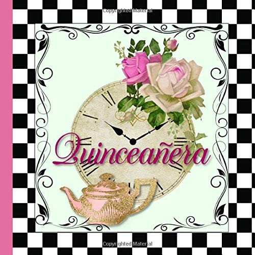 Quinceañera A Guestbook for an Alice in Wonderland Themed