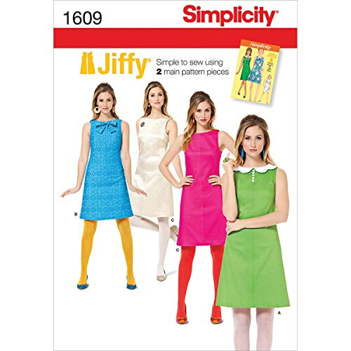 Simplicity 1609 Womens Vintage Dress Sewing Patterns, Sizes