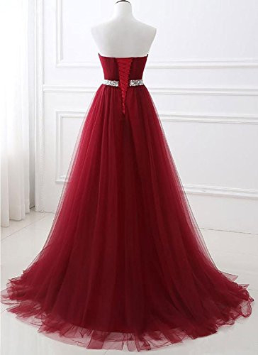 White Strapless Prom Dress Tulle Princess Evening Gowns with