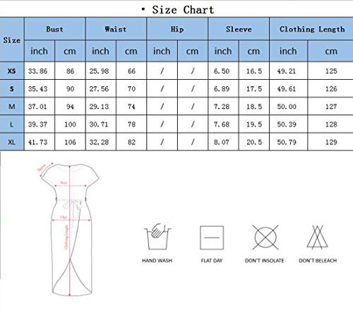 Yidarton Womens Casual Short Sleeve Slit Solid Party Summer